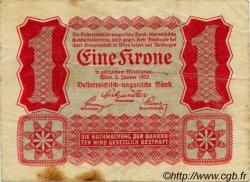 1 Krone AUTRICHE  1922 P.073 TB+