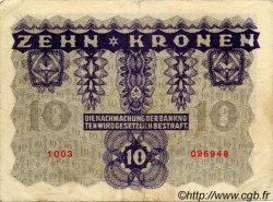 10 Kronen AUTRICHE  1922 P.075 TB+