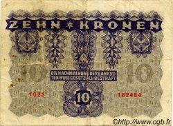 10 Kronen AUTRICHE  1922 P.075 TTB