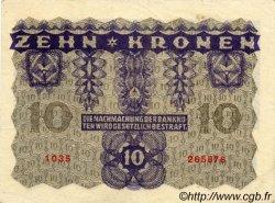 10 Kronen AUTRICHE  1922 P.075 SUP
