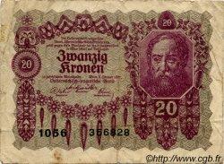 20 Kronen AUTRICHE  1922 P.076 B+