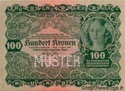 100 Kronen AUTRICHE  1922 P.077s NEUF