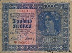 1000 Kronen AUTRICHE  1922 P.078 TB