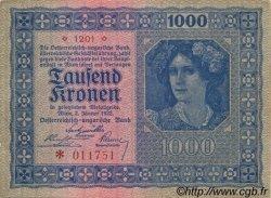 1000 Kronen AUTRICHE  1922 P.078 SUP+
