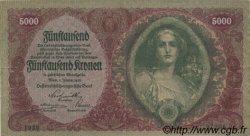 5000 Kronen AUTRICHE  1922 P.079 TTB
