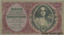 5000 Kronen AUTRICHE  1922 P.079 pr.SUP