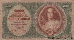 50000 Kronen AUTRICHE  1922 P.080 TB