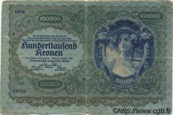 100000 Kronen AUTRICHE  1922 P.081 B