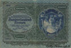 100000 Kronen AUTRICHE  1922 P.081 TB