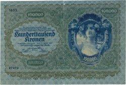 100000 Kronen AUTRICHE  1922 P.081 TB+ à TTB