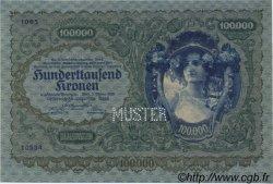 100000 Kronen AUTRICHE  1922 P.081s NEUF