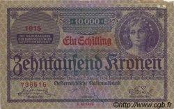 1 Schilling sur 10000 Kronen AUTRICHE  1924 P.087 TTB+