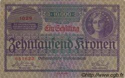 1 Schilling sur 10000 Kronen AUTRICHE  1924 P.087 TTB
