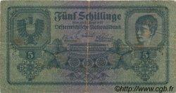 5 Schillinge AUTRICHE  1925 P.088 B+