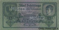 5 Schillinge AUTRICHE  1925 P.088s NEUF