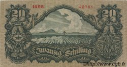20 Schilling AUTRICHE  1928 P.095 TTB