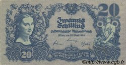 20 Schilling AUTRICHE  1945 P.116 pr.SPL