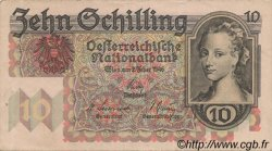 10 Schilling AUTRICHE  1946 P.122 TTB+