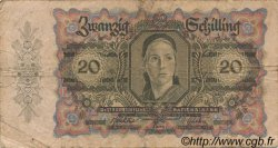 20 Schilling AUTRICHE  1946 P.123 B+