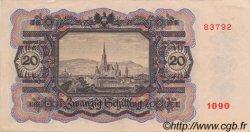 20 Schilling AUTRICHE  1946 P.123 pr.SUP