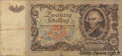 20 Schilling AUTRICHE  1950 P.129a B+