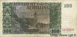 100 Schilling AUTRICHE  1954 P.133 TB