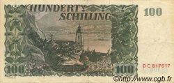 100 Schilling AUTRICHE  1954 P.133 TTB