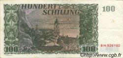100 Schilling AUTRICHE  1954 P.133 TTB+