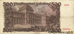 500 Schilling AUTRICHE  1953 P.134 TTB