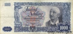 1000 Schilling AUTRICHE  1954 P.135 TTB