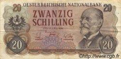 20 Schilling AUTRICHE  1956 P.136a pr.TTB