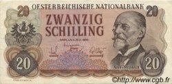 20 Schilling AUTRICHE  1956 P.136a TTB+