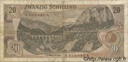 20 Schilling AUTRICHE  1967 P.142 TB