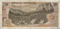 20 Schilling AUTRICHE  1967 P.142 TTB