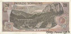 20 Schilling AUTRICHE  1967 P.142 SUP