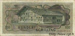 100 Schilling AUTRICHE  1969 P.146 pr.TB