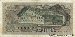 100 Schilling AUTRICHE  1969 P.146 TTB