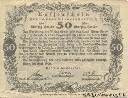 50 Heller AUTRICHE  1920 PS.111a TTB+
