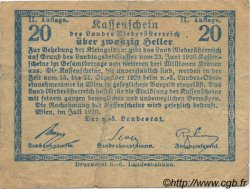 20 Heller AUTRICHE  1920 PS.113a TB