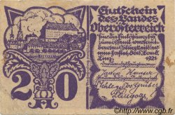 20 Heller AUTRICHE  1921 PS.120b TTB
