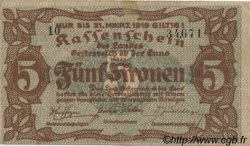 5 Kronen AUTRICHE  1918 PS.122 TTB+