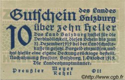 10 Heller AUTRICHE  1919 PS.126a NEUF
