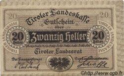 20 Heller AUTRICHE  1920 PS.143 TTB
