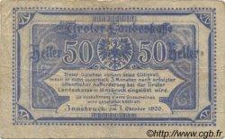 50 Heller AUTRICHE  1920 PS.144 pr.TTB