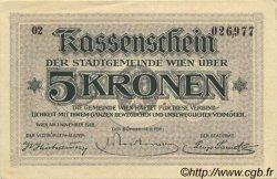 5 Kronen AUTRICHE Vienne 1918 -- SPL
