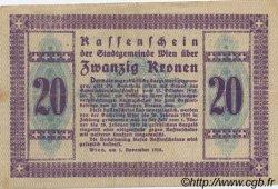 20 Kronen AUTRICHE  1918 -- TTB+