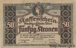50 Kronen AUTRICHE  1918 -- TTB