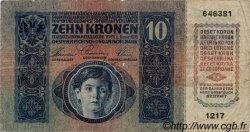 10 Korona HONGRIE  1920 P.019 B à TB