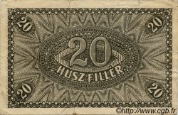 20 Filler HONGRIE  1920 P.043 TB+