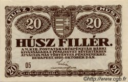 20 Filler HONGRIE  1920 P.043 SUP+